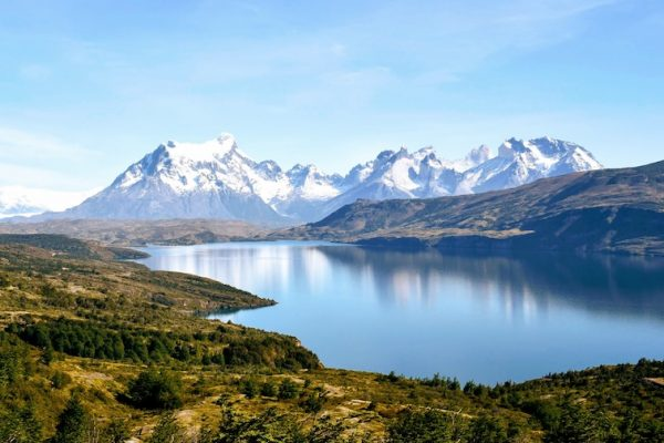 Mountain views on Patagonia yacht charter