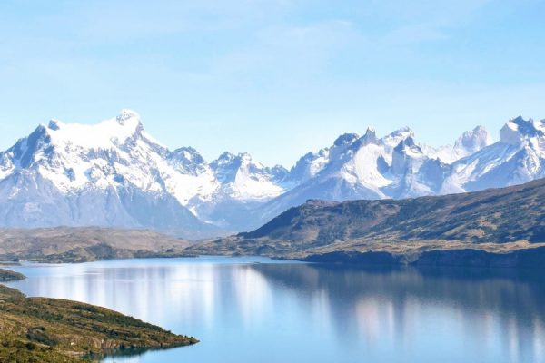 Mountain views seen on a luxury yacht charter in Patagonia
