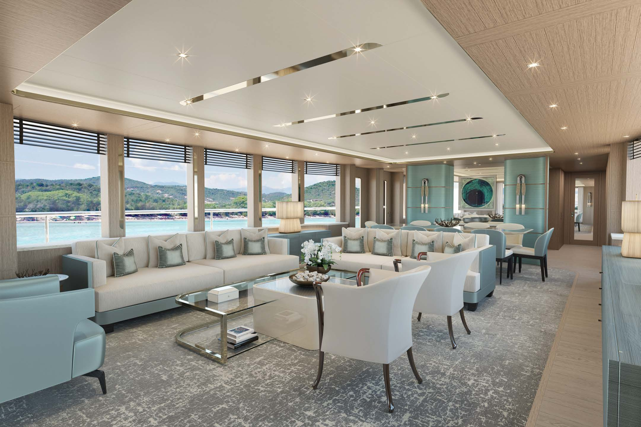 M/Y MOONEN Y201 yacht for sale living room