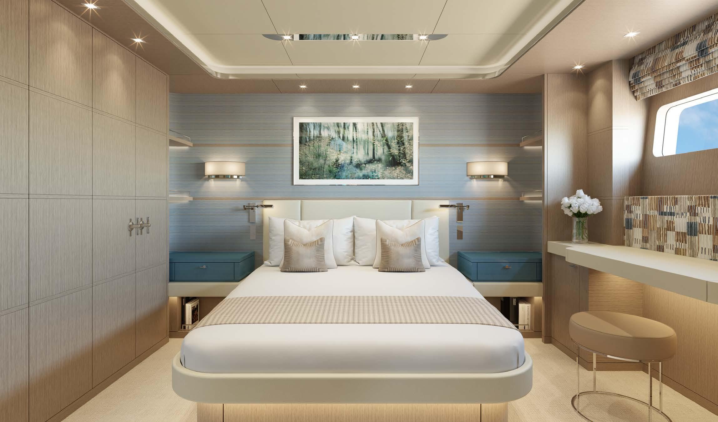 M/Y MOONEN Y201 yacht for sale master bed