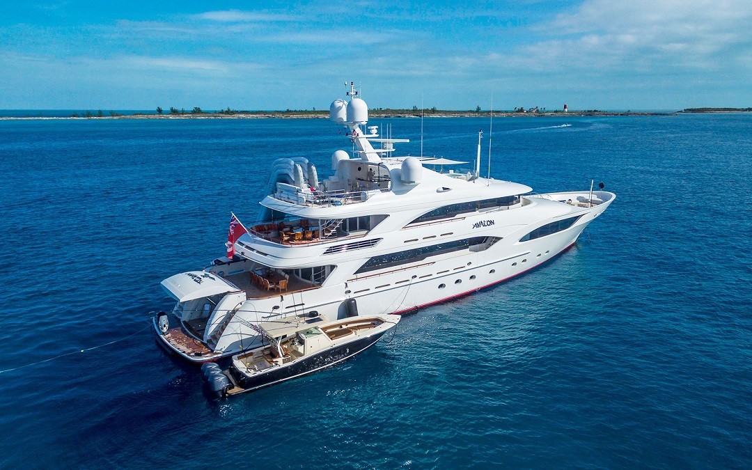 Profile view of M/Y AVALON yacht for sale