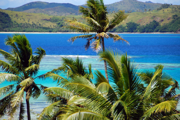 Tropical Beach on a Luxury Yacht Charter in Fiji