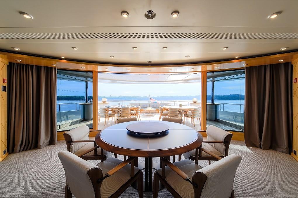 M/Y LUNA B yacht for charter indoor-outdoor