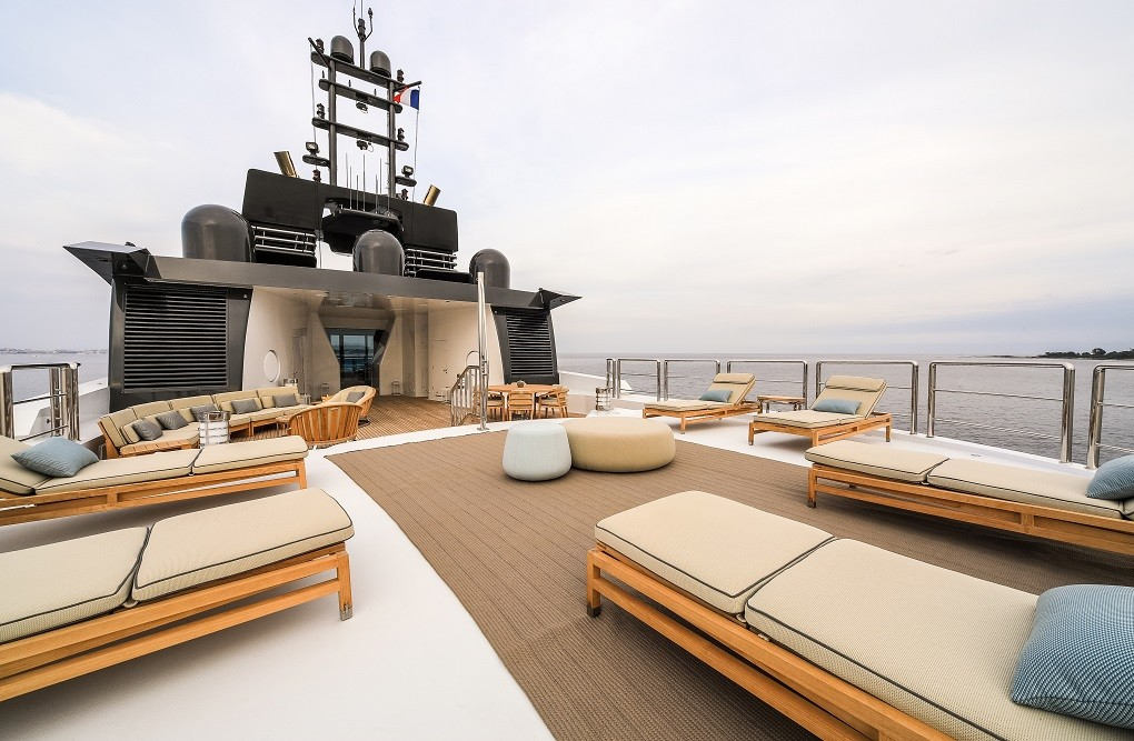 M/Y LUNA B yacht for charter top deck