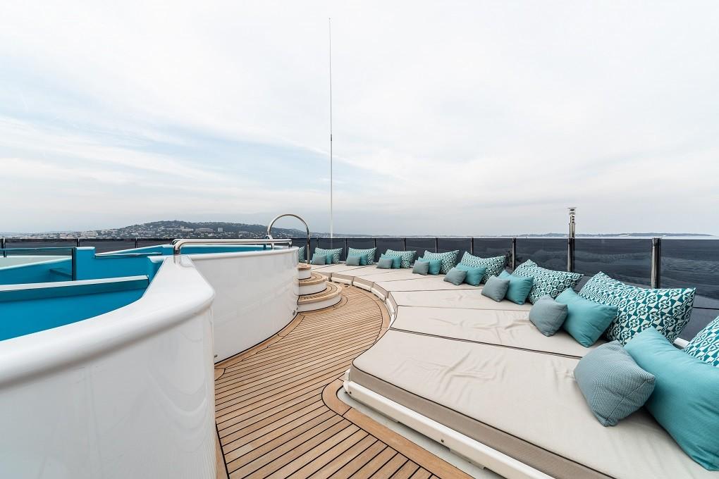M/Y LUNA B yacht for charter top deck details