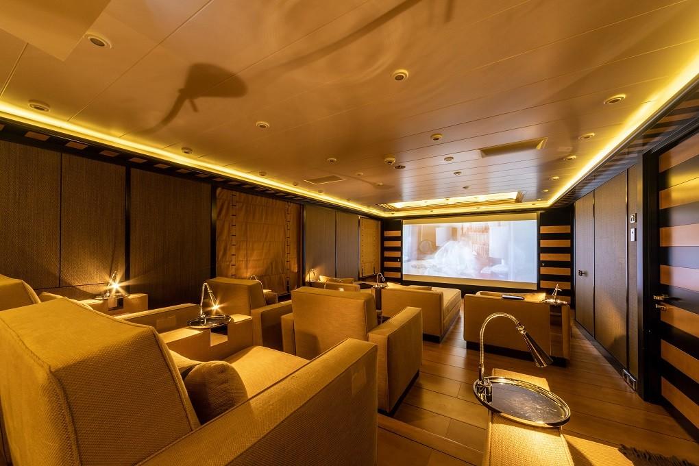 M/Y LUNA B yacht for charter cinema room