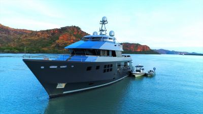 Bow view of M/Y AKIKO yacht for sale