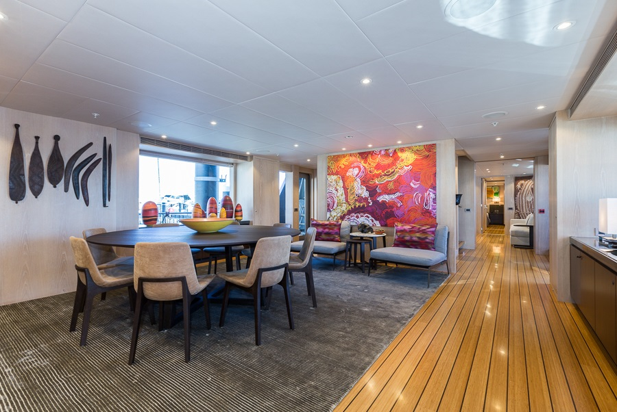M/Y AKIKO yacht for charter dining room