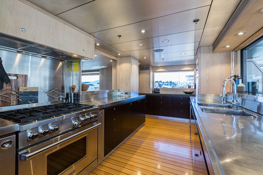 M/Y AKIKO yacht for charter kitchen