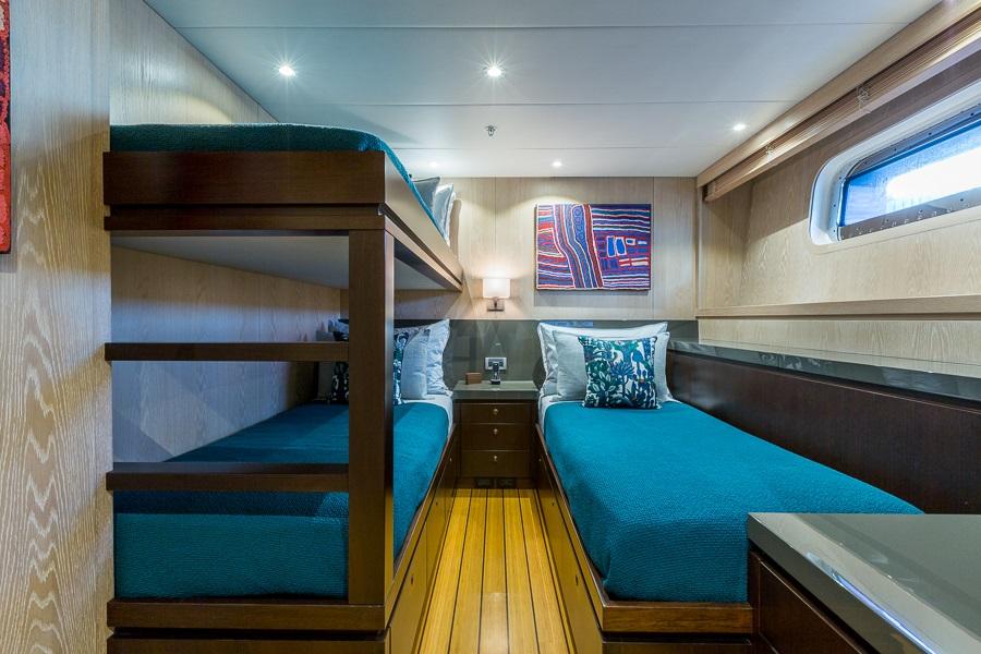 M/Y AKIKO yacht for charter twin cabin