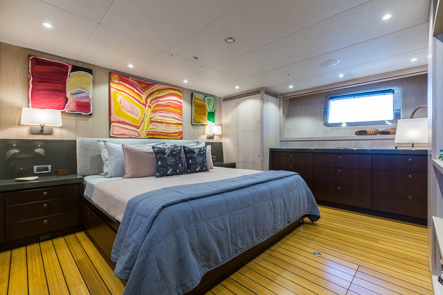 M/Y AKIKO yacht for charter master suite