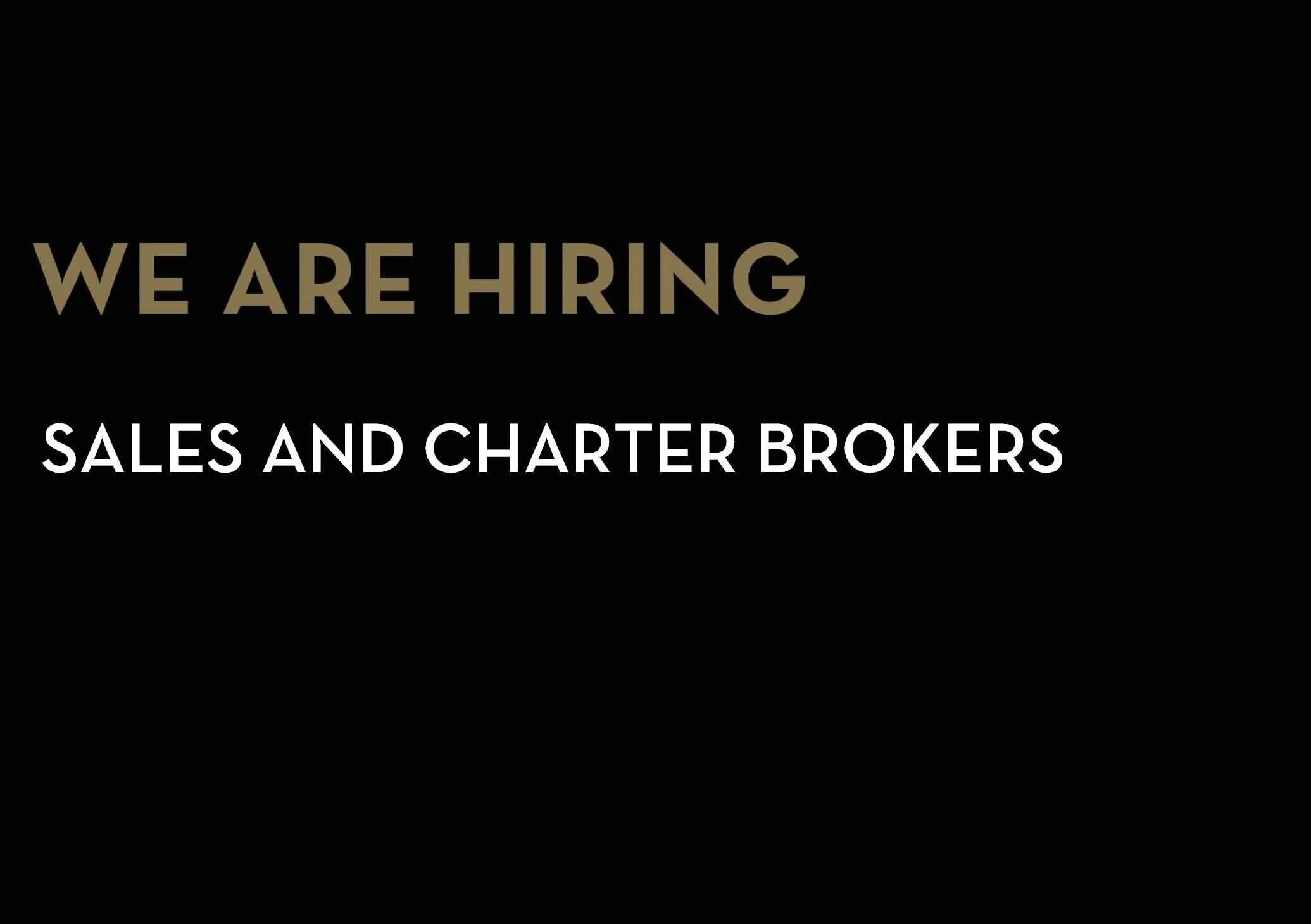 YACHTZOO is Hiring: Sales and Charter Brokers