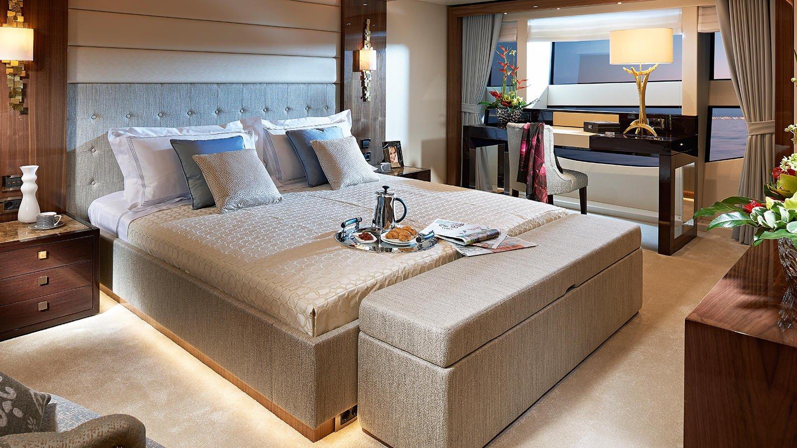 M/Y AMWAJ Yacht for Sale Master Cabin