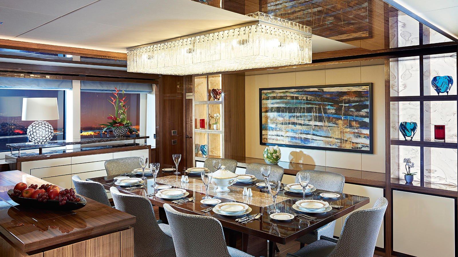 M/Y AMWAJ Yacht for Sale Dining Room