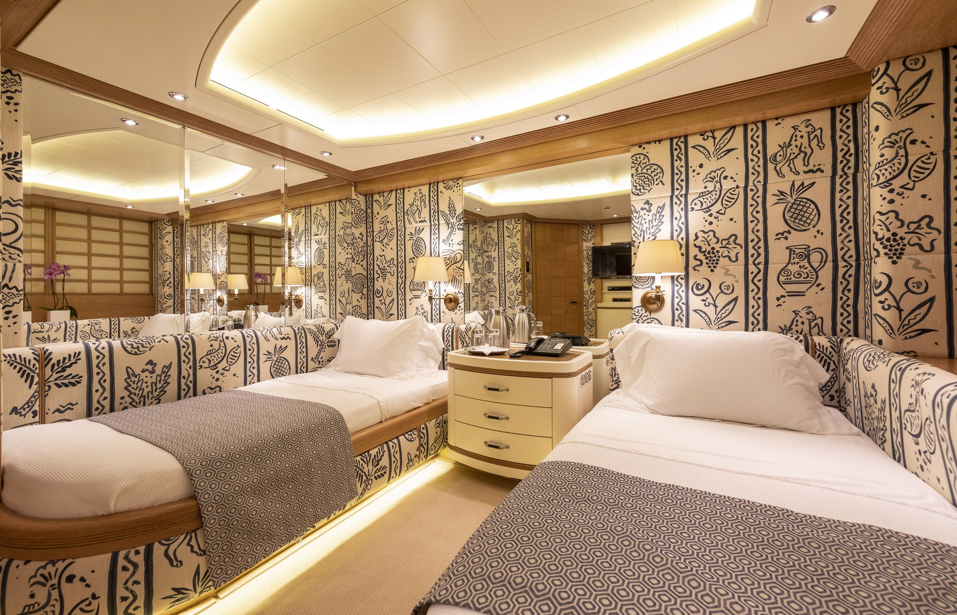 m/y alexandra yacht for charter twin room