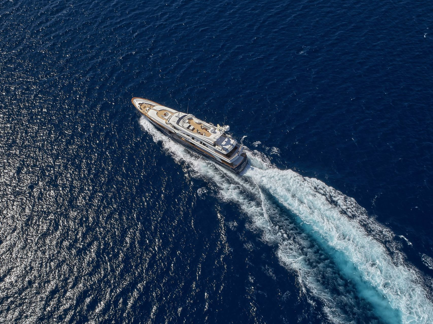 m/y alexandra yacht for charter bird view