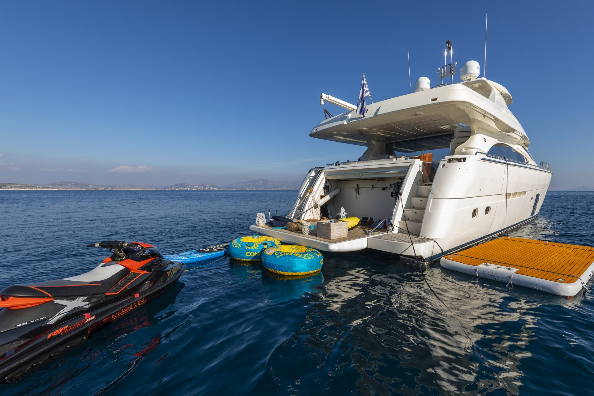 m/y astarte yacht for charter watertoys