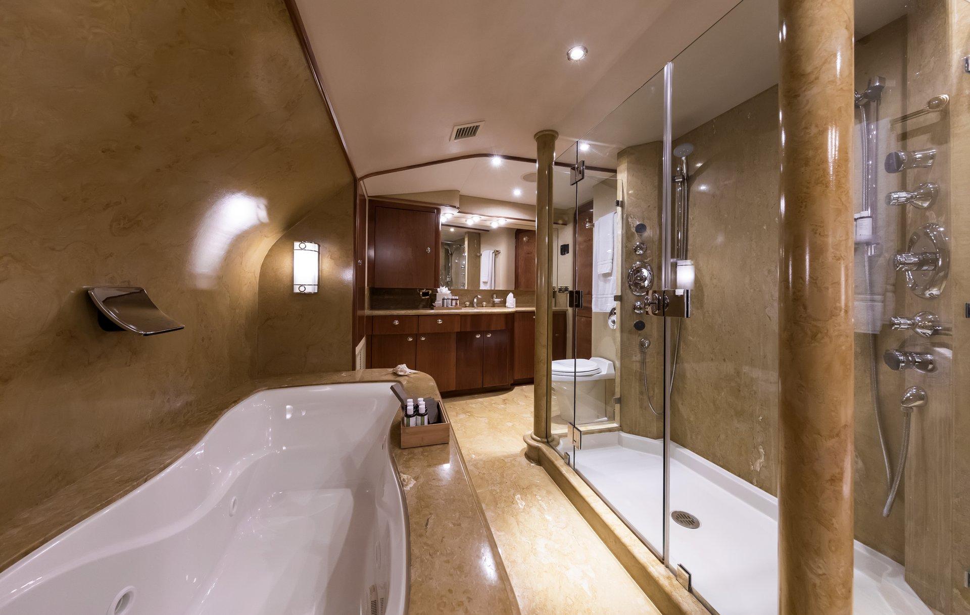 m/y endless summer yacht for charter bathroom