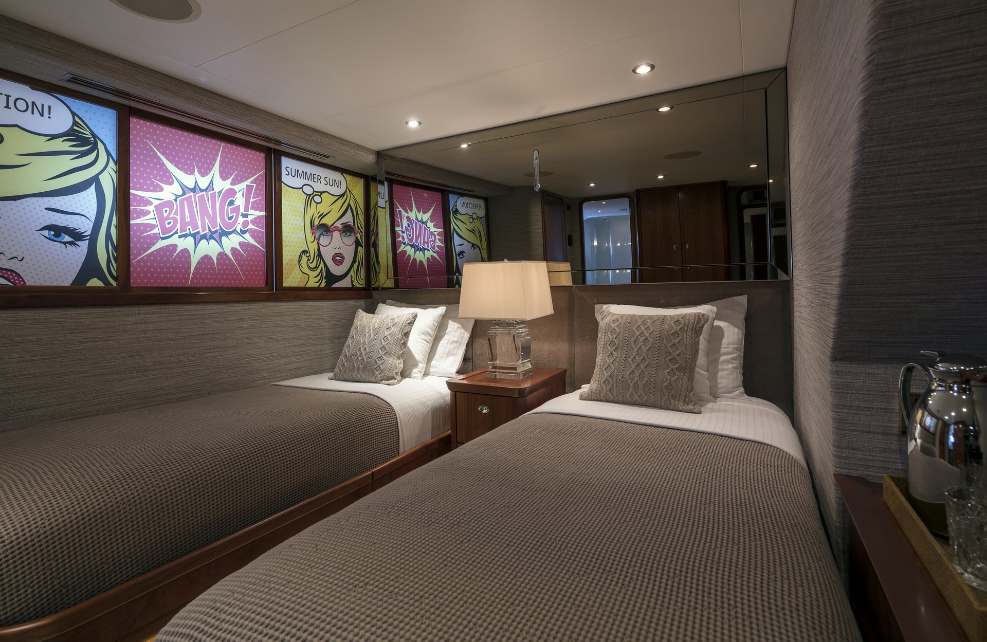 m/y endless summer yacht for charter twin cabin