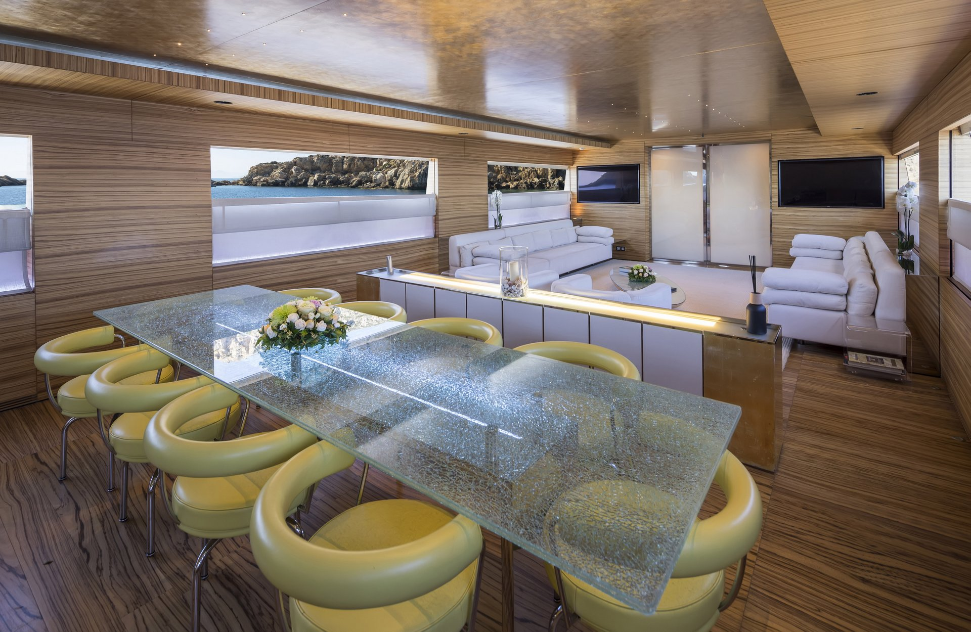 M/Y MABROUK yacht for charter indoor area