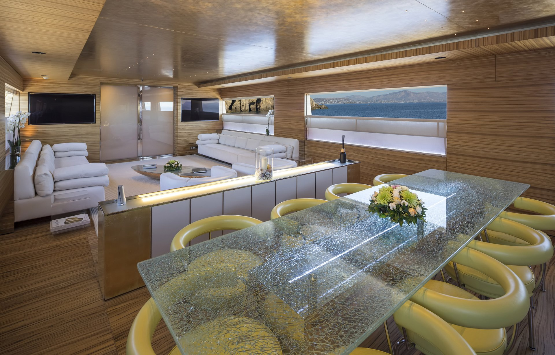 M/Y MABROUK yacht for charter dining table