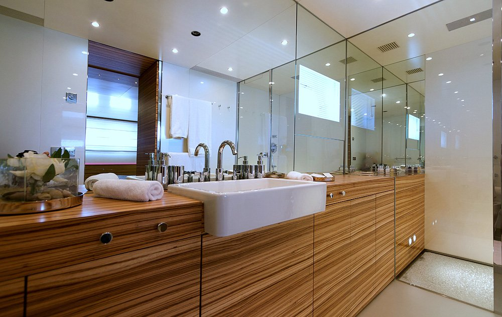 M/Y MABROUK yacht for charter bathroom sinks