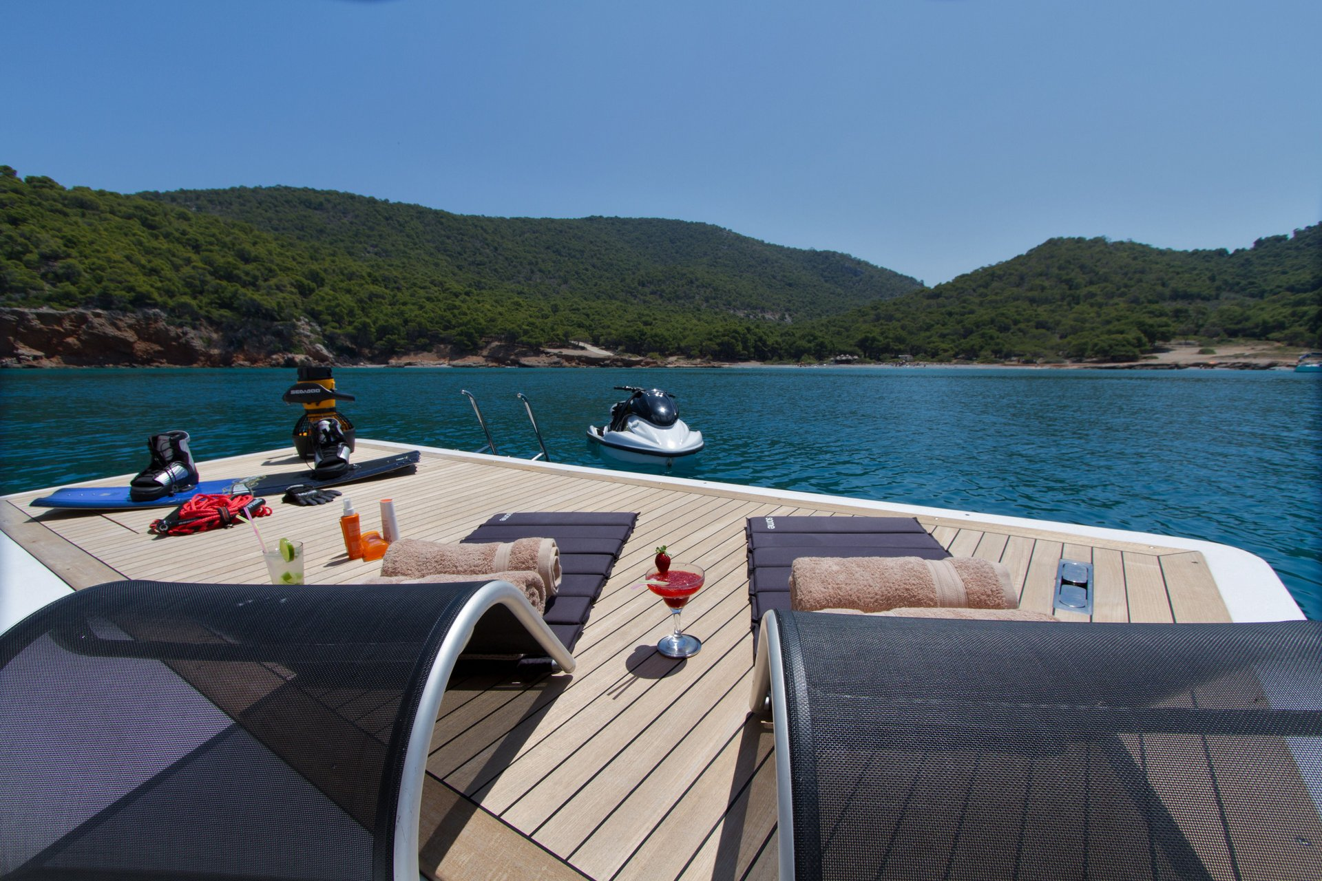 M/Y MABROUK yacht for charter sun lounging
