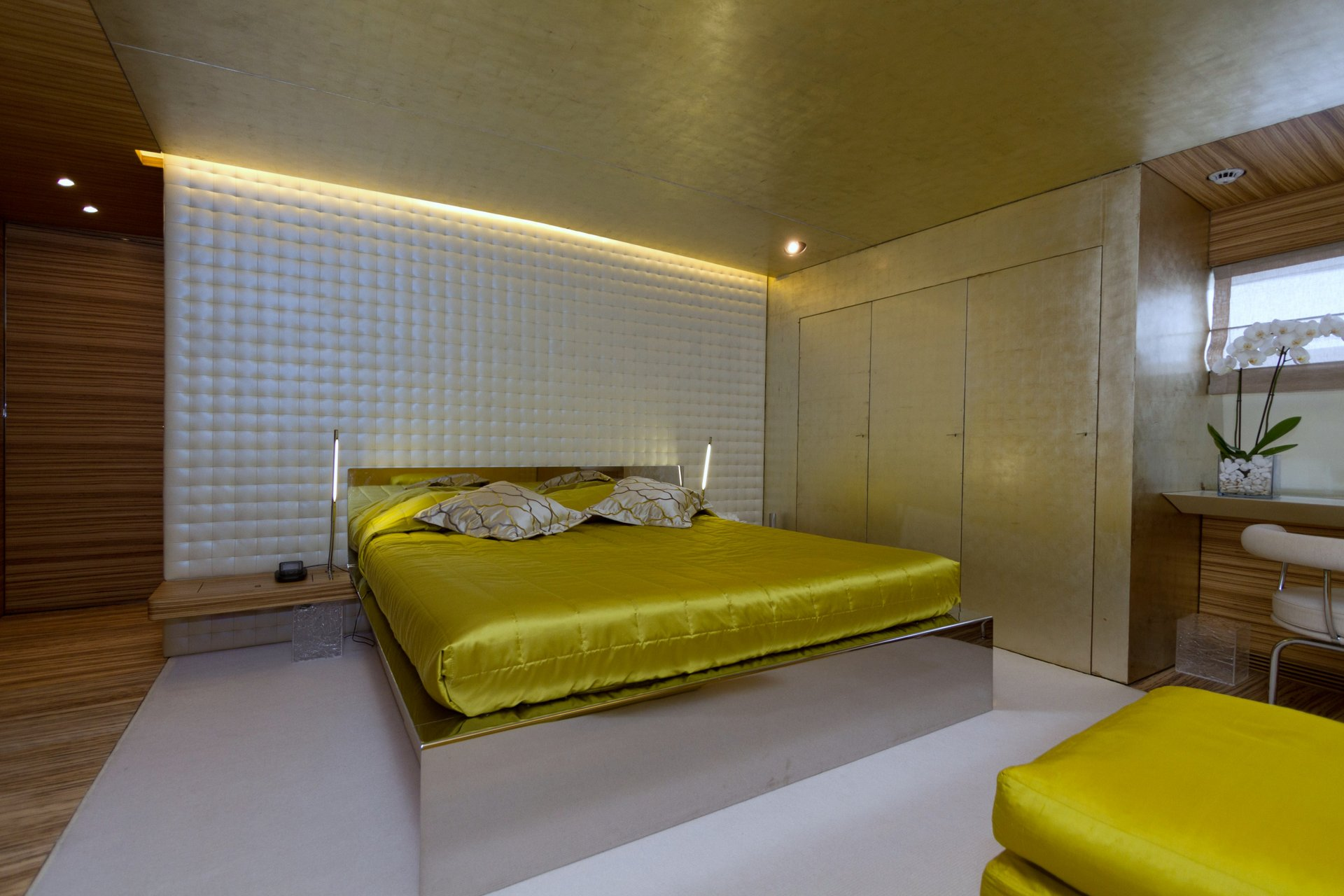 M/Y MABROUK yacht for charter master bedroom