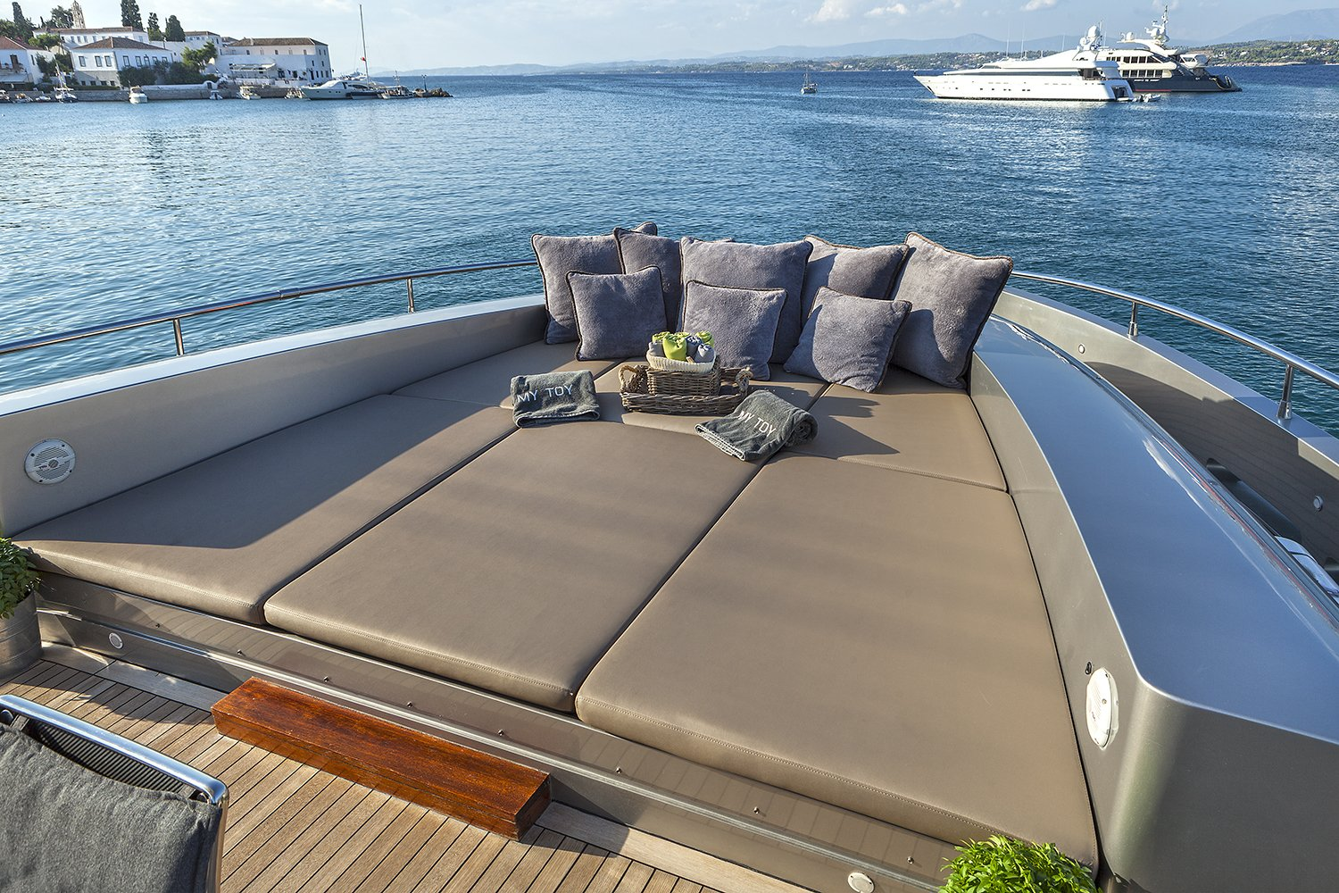 M/Y MY TOY yacht for charter aft deck