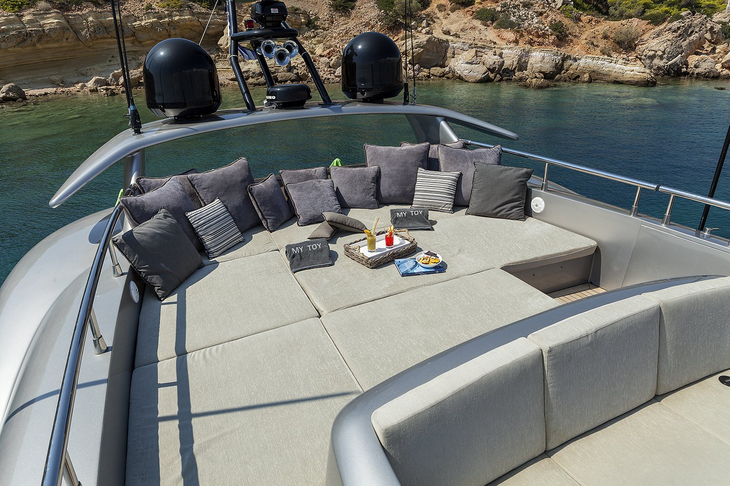 M/Y MY TOY yacht for charter deck lounging