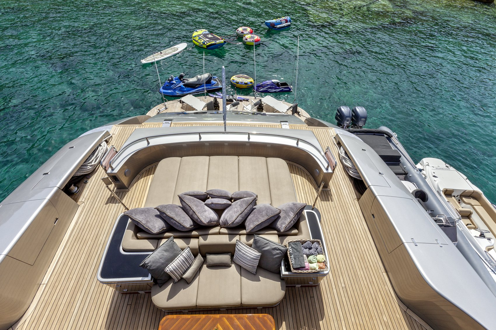 M/Y MY TOY yacht for charter full lounge deck