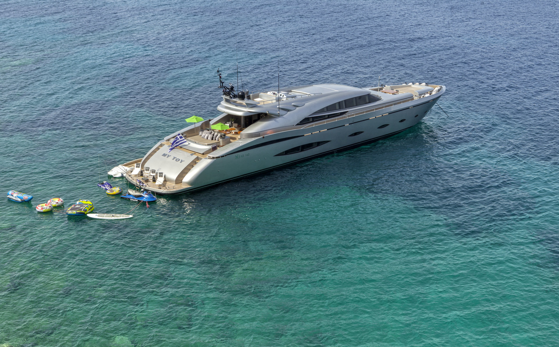 M/Y MY TOY yacht for charter anchored