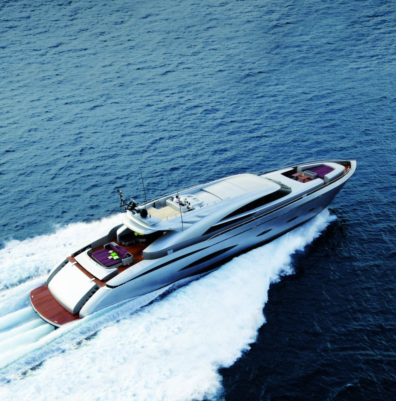 M/Y MY TOY yacht for charter birdview sailing