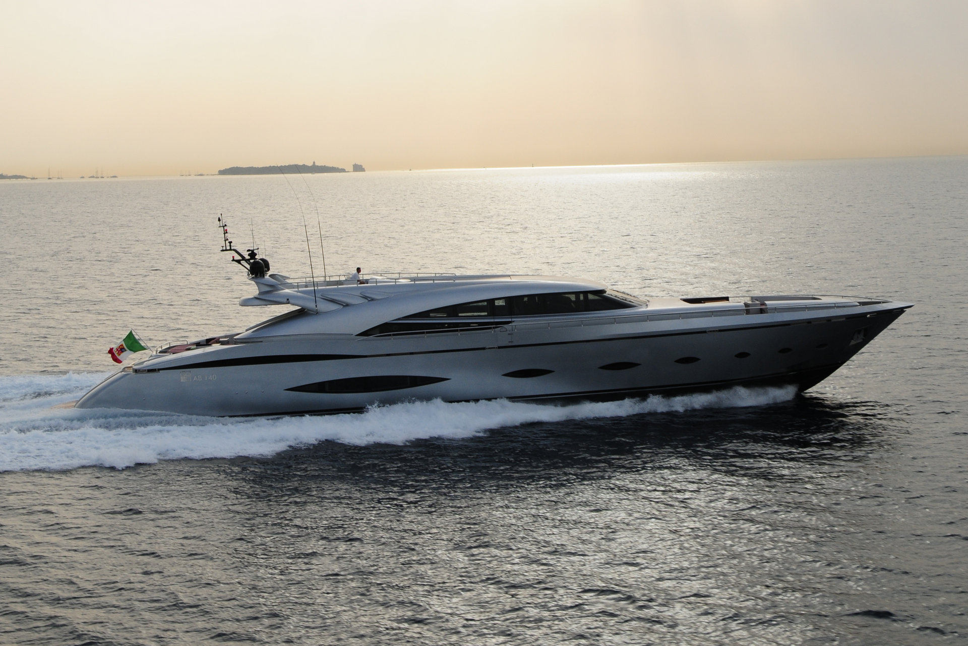 M/Y MY TOY yacht for charter sunset view