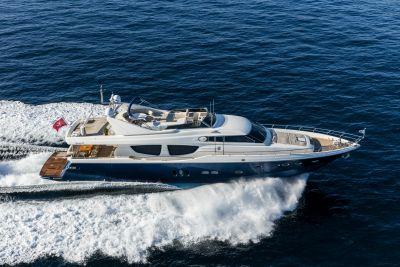 M/Y Mythos yacht for sale sailing