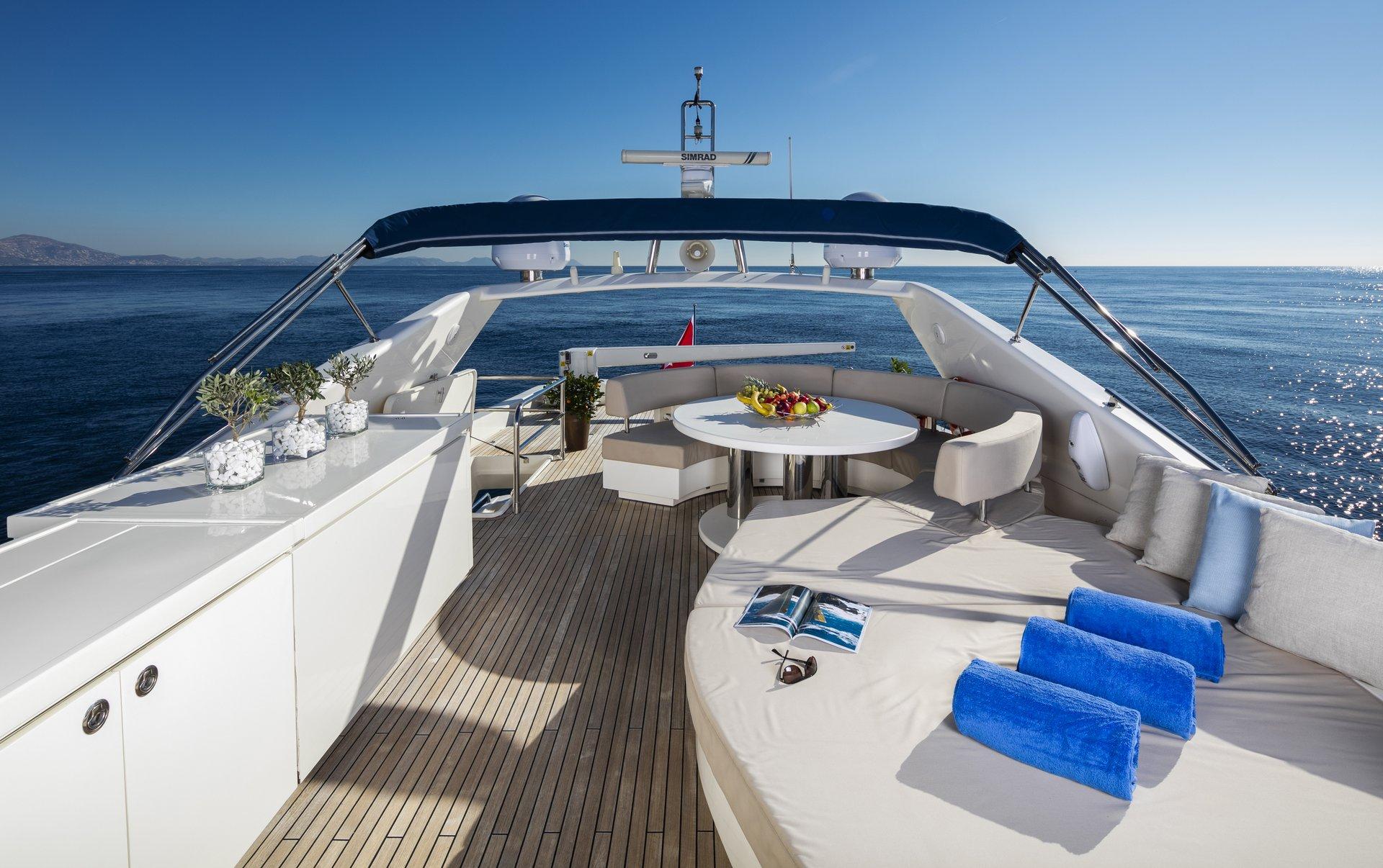 M/Y Mythos yacht for sale sundeck