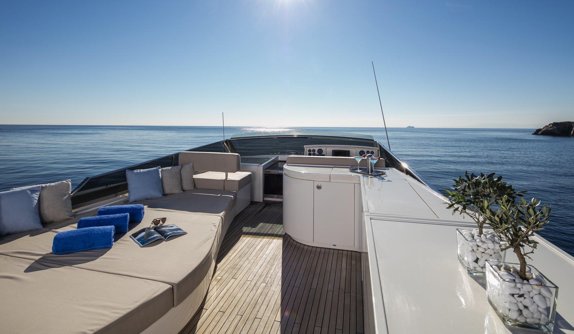 M/Y Mythos yacht for sale sundeck lounge
