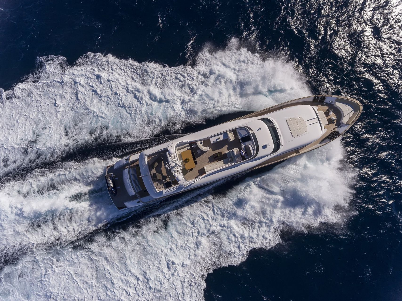 M/Y PARIS A yacht for charter birdview