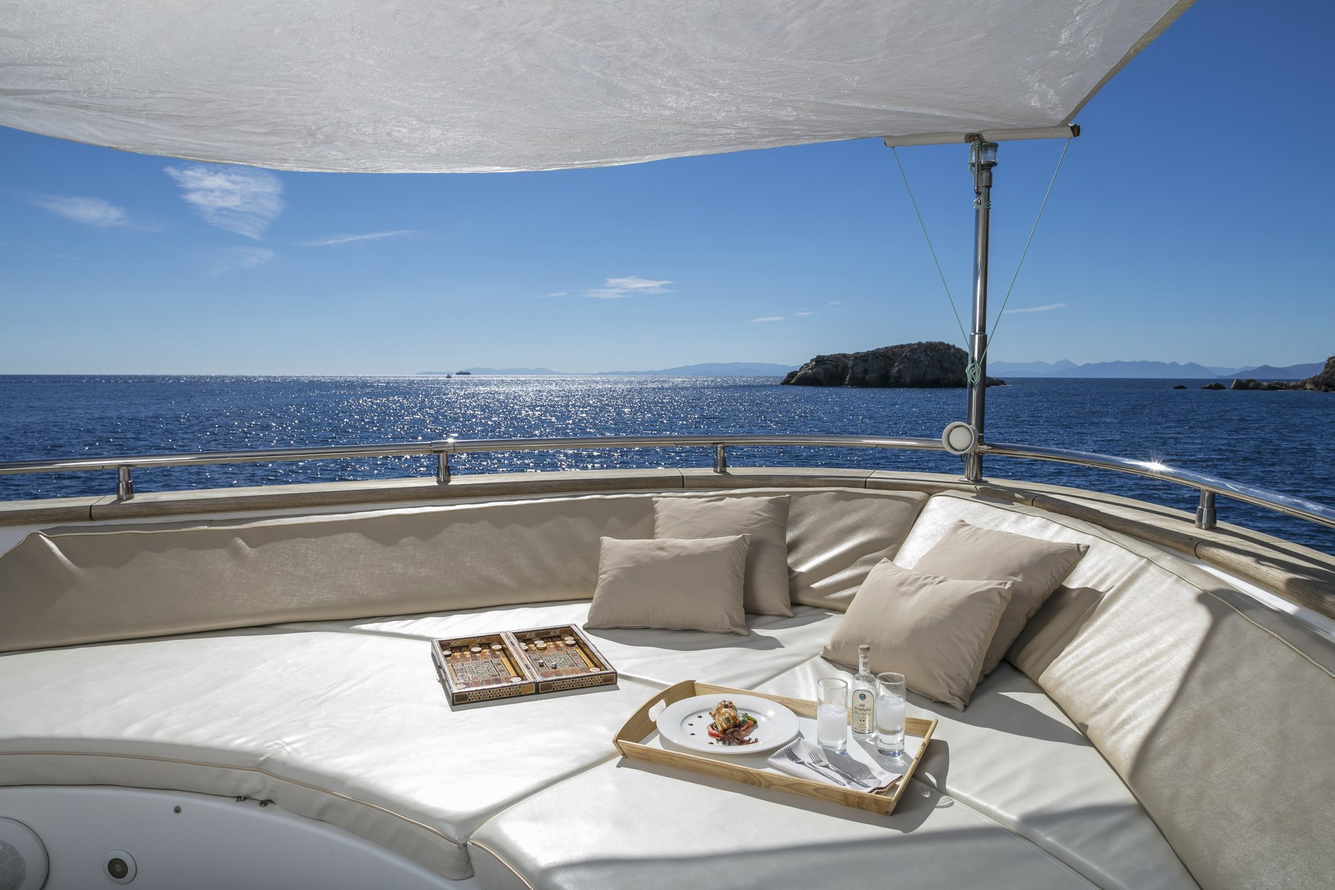 M/Y PARIS A yacht for charter deck lounge area
