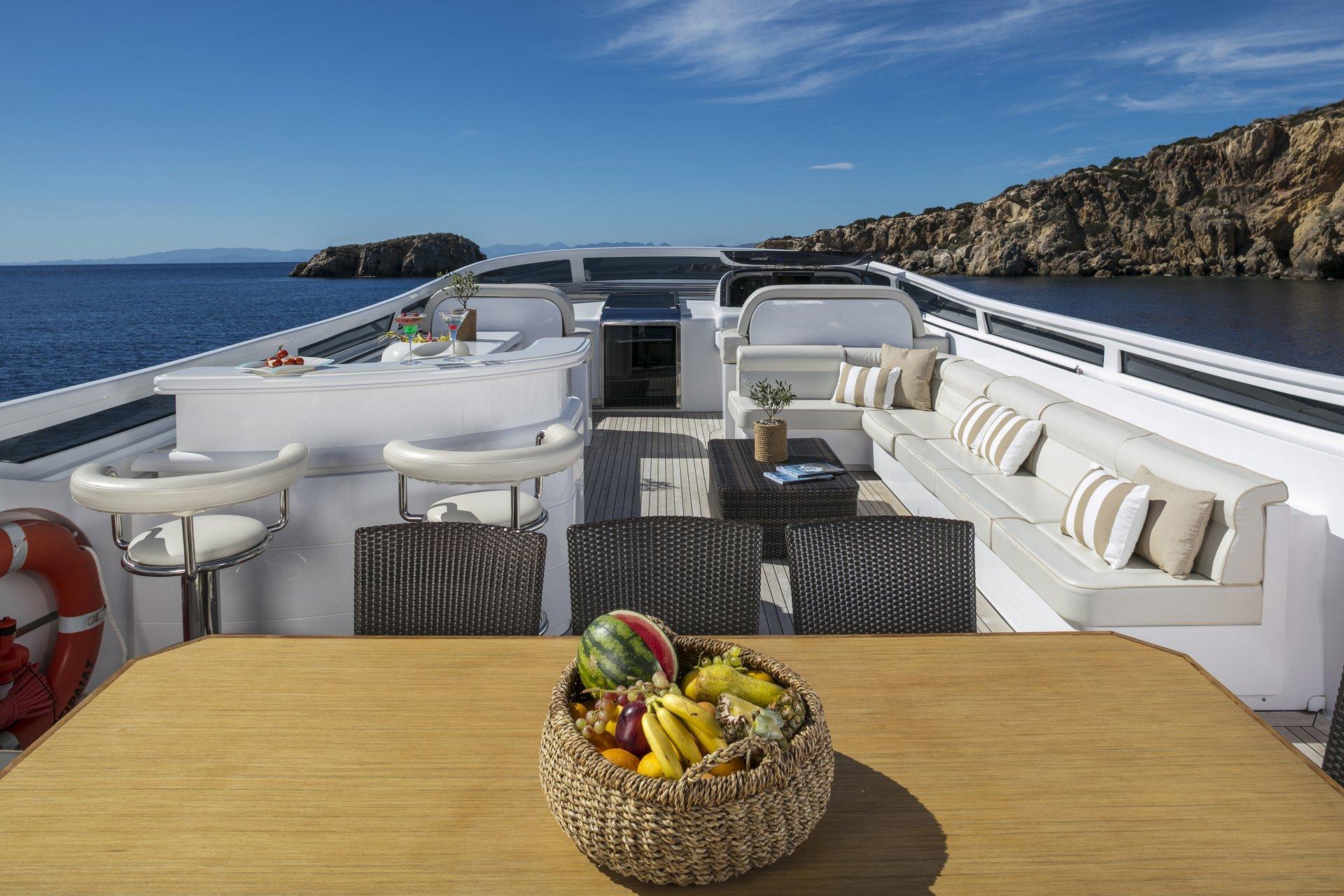 M/Y PARIS A yacht for charter deck spaces