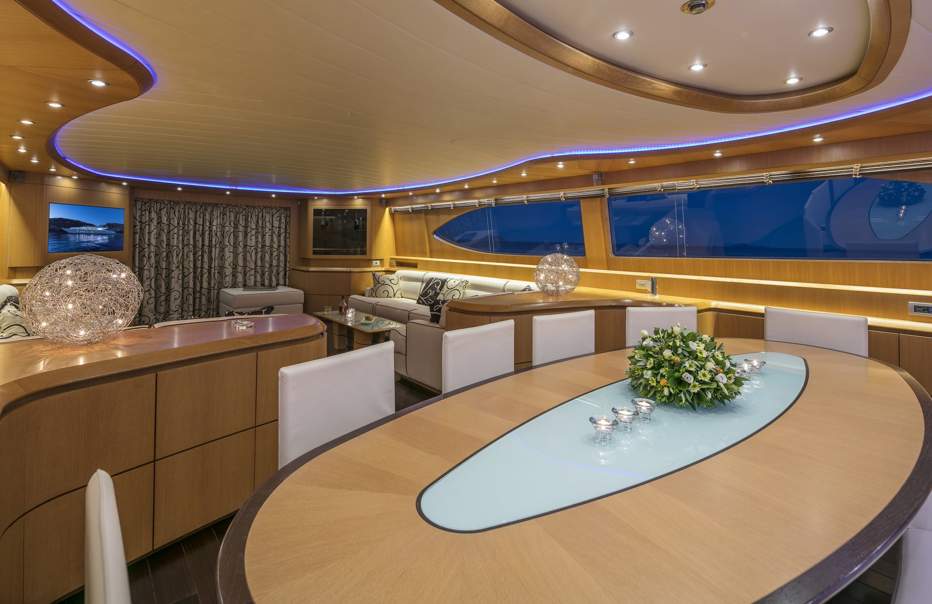M/Y PARIS A yacht for charter lounge