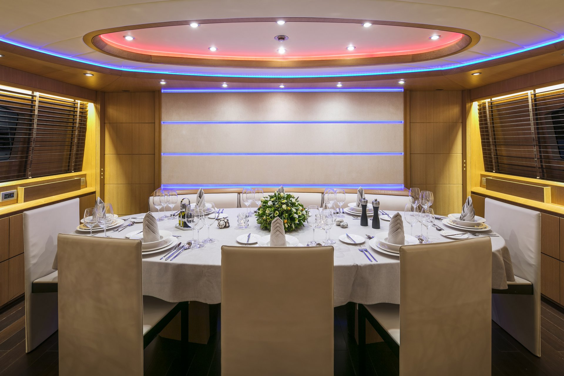 M/Y PARIS A yacht for charter indoor dining
