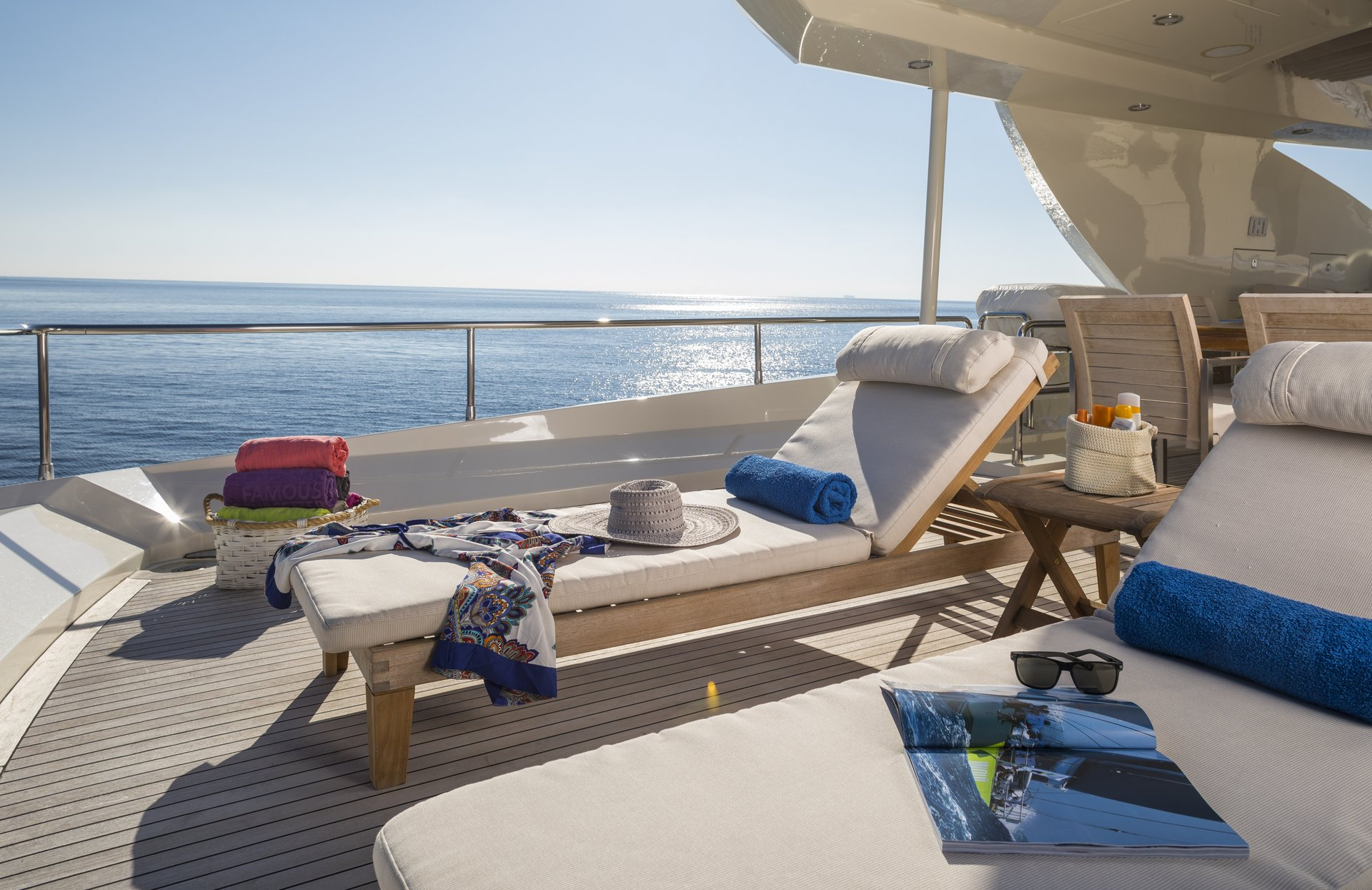 M/Y RINI V yacht for charter deck lounging