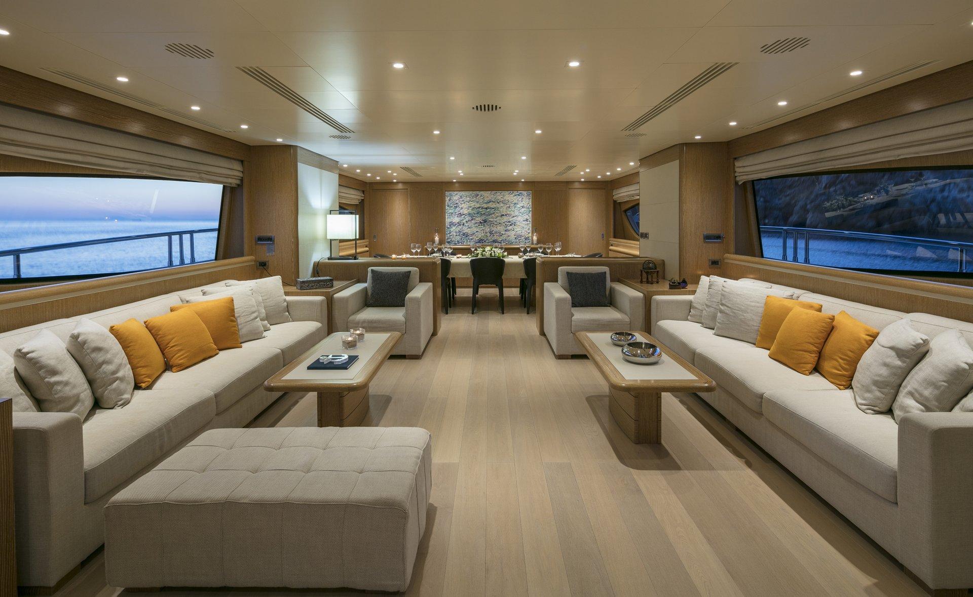 M/Y RINI V yacht for charter living room
