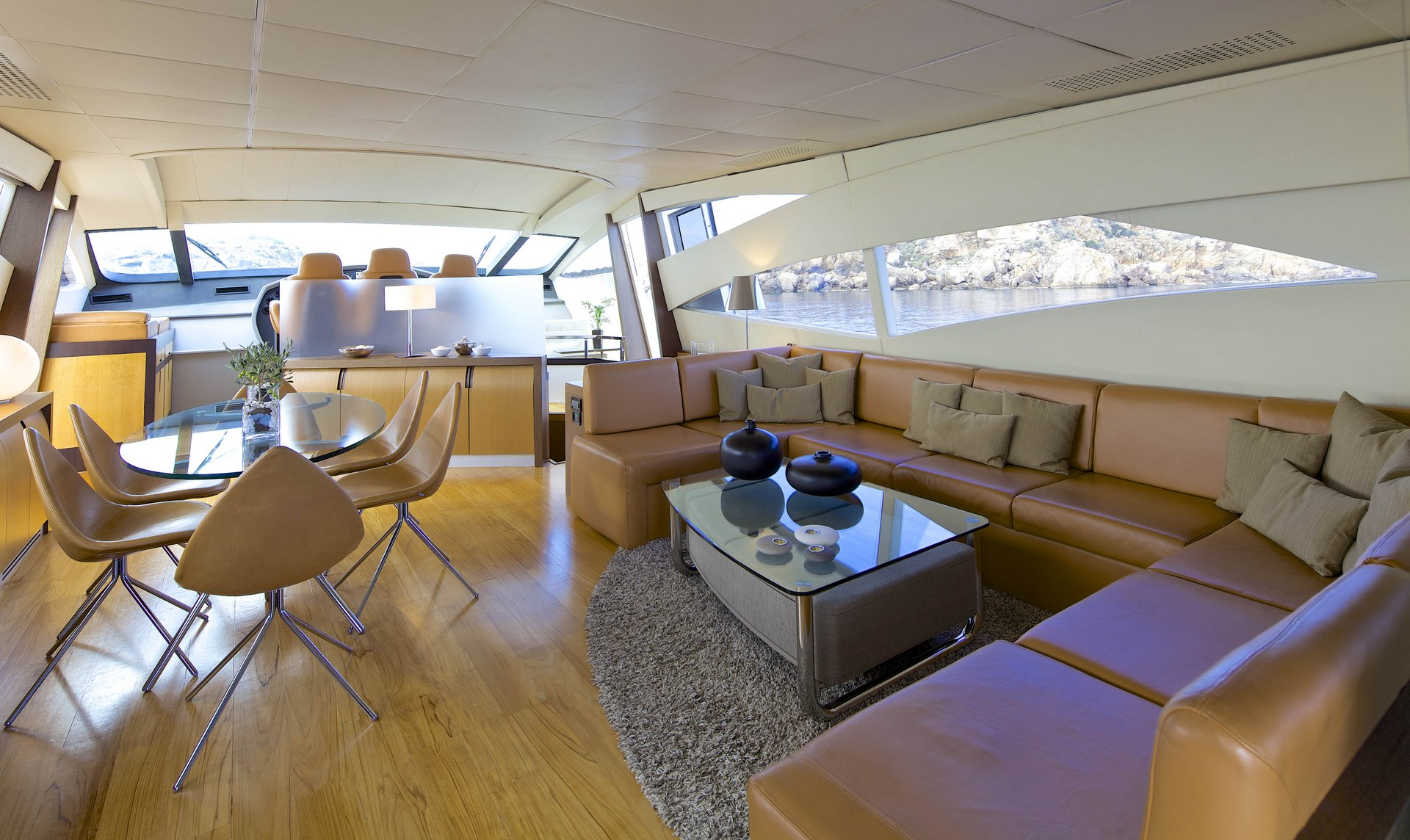 M/Y SOLARIS yacht for charter interior design