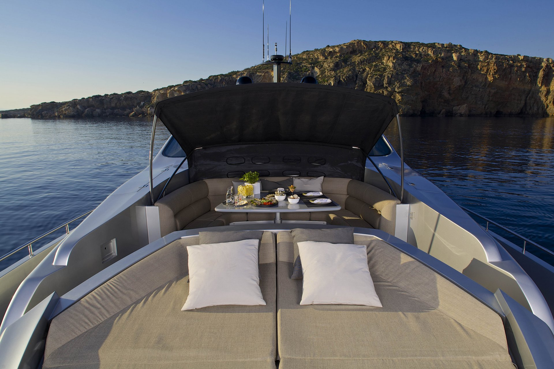 M/Y SOLARIS yacht for charter deck lounging