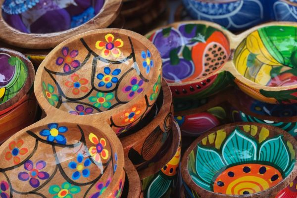 Colourful dishes on a Mexico yacht charter