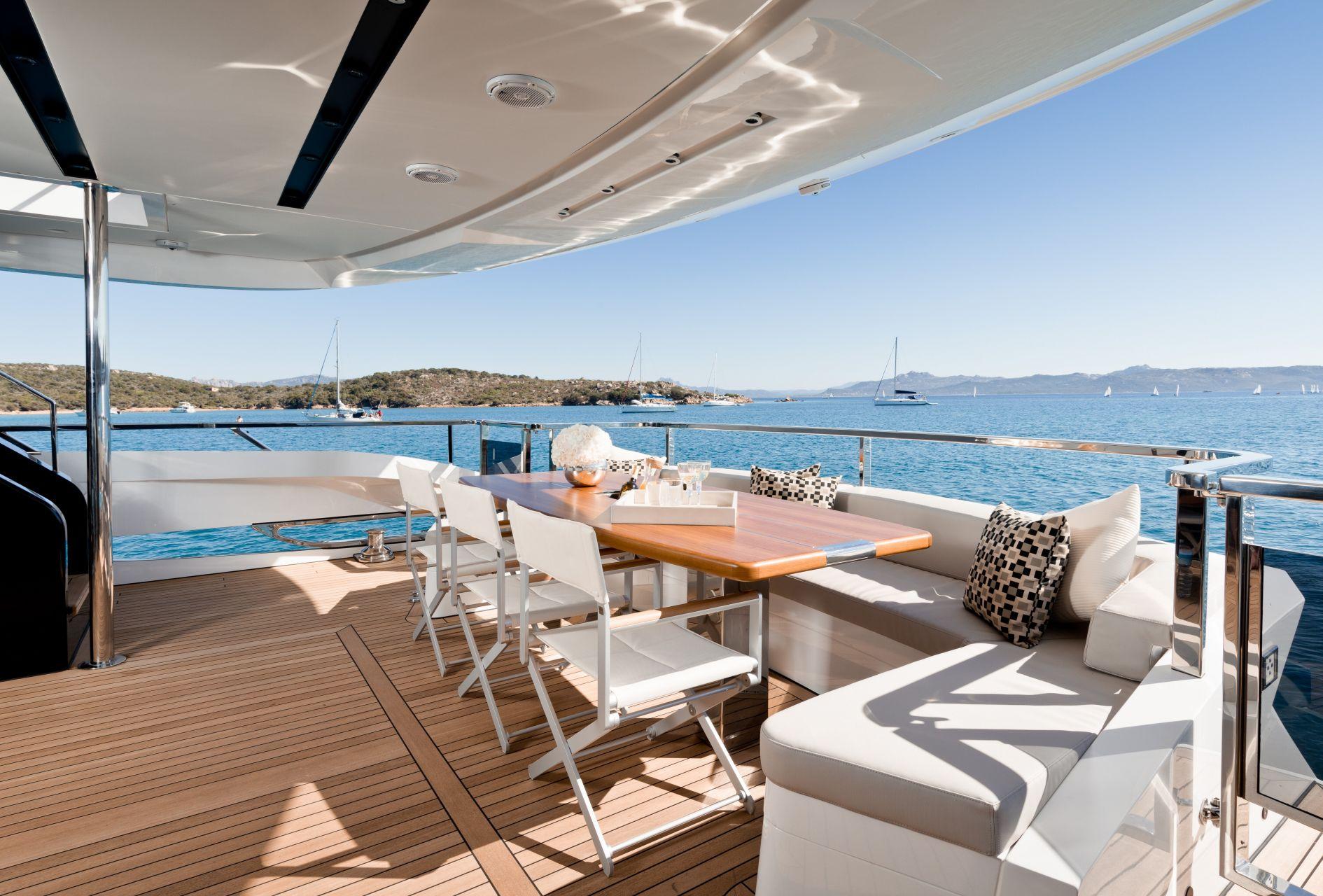 M/Y HANAA for charter main deck