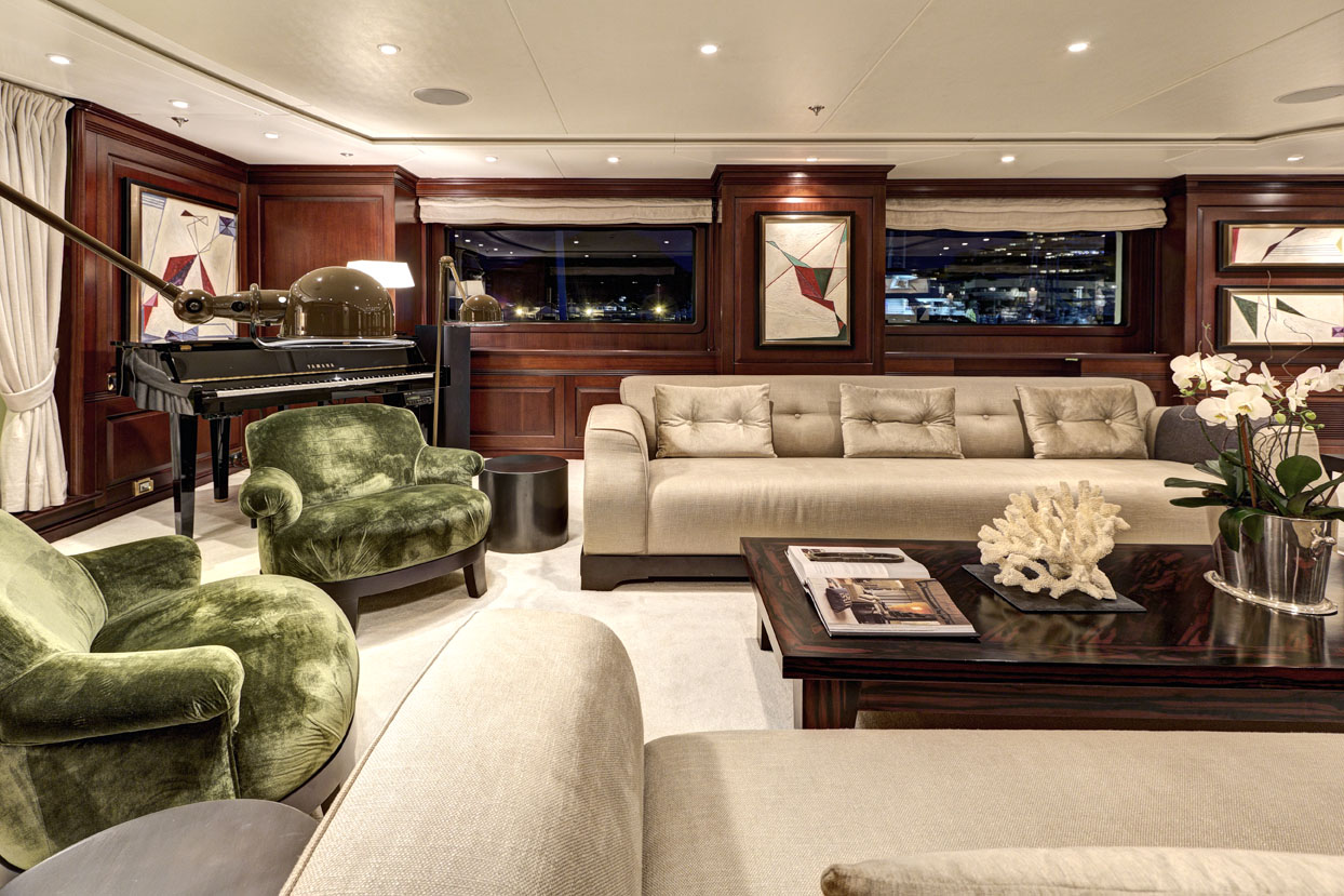 m/y azteca ii yacht for charter living room sofas