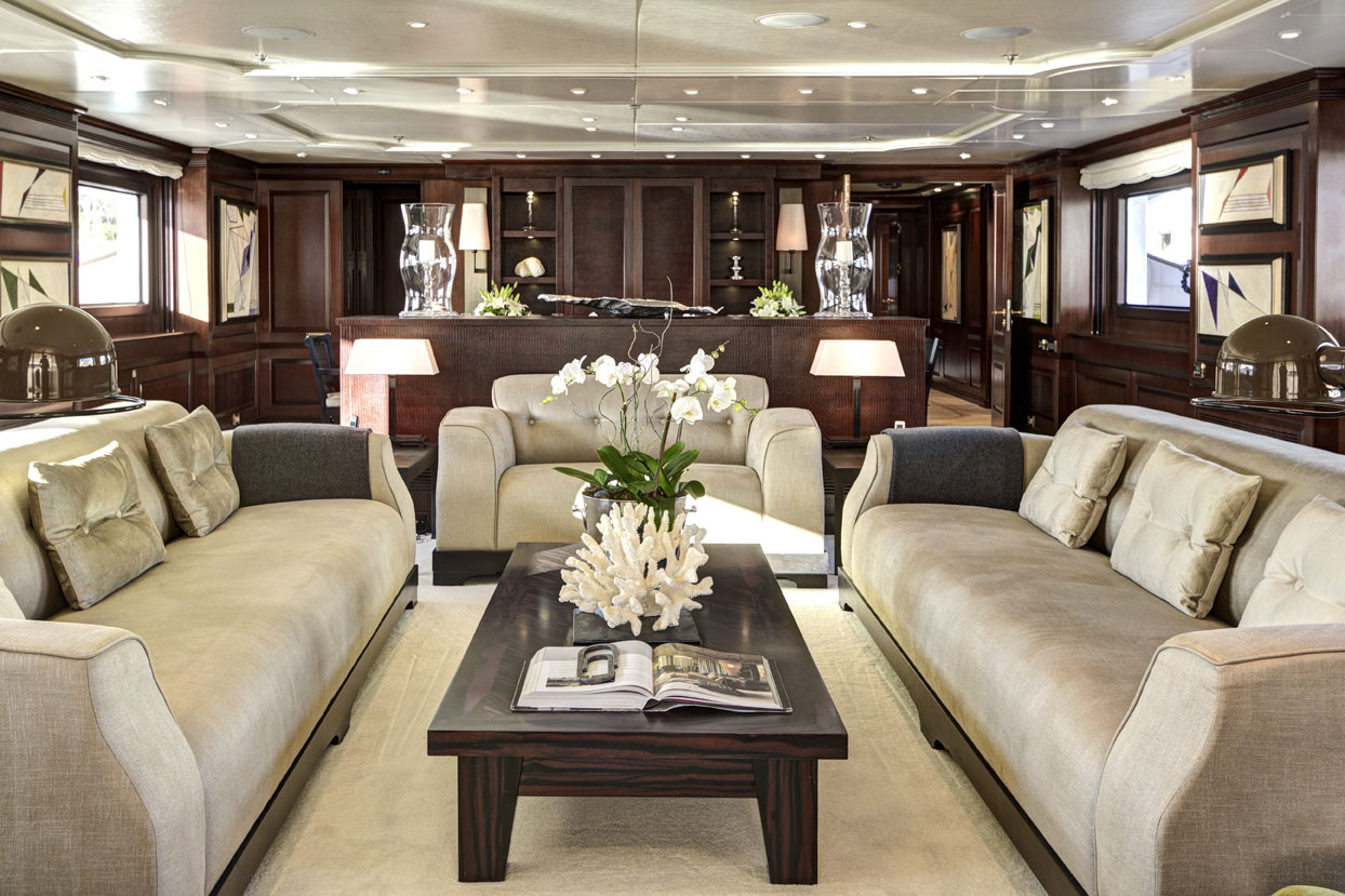 m/y azteca ii yacht for charter living room table